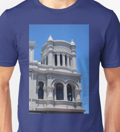 Blue and White Architecture Unisex T-Shirt