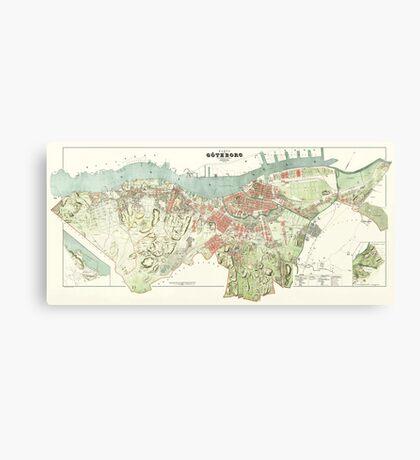 Map of Gothenburg - 1888 Canvas Print