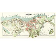 Map of Gothenburg - 1888 Photographic Print
