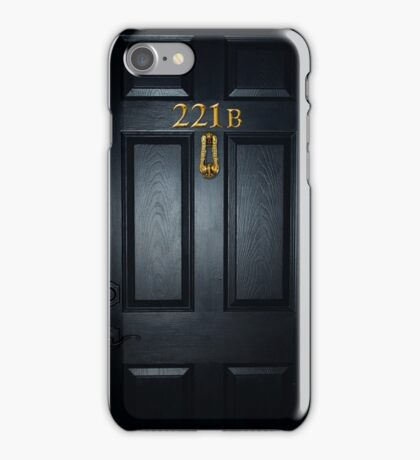 Sherlock 221b Door iPhone Case/Skin