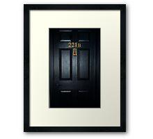Sherlock 221b Door Framed Print