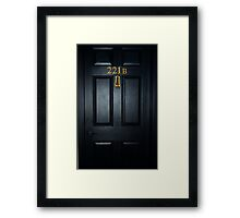 Sherlock 221b Door Framed Print