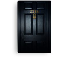 Sherlock 221b Door Canvas Print