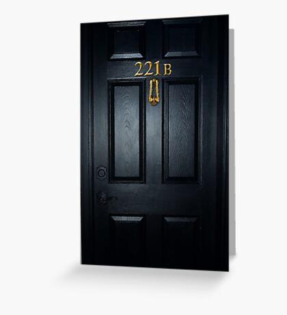 Sherlock 221b Door Greeting Card