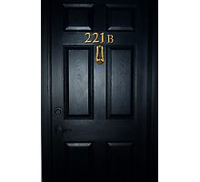 Sherlock 221b Door Photographic Print