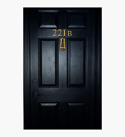 Sherlock 221b Door Photographic Print