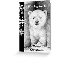 Polar Bear Cub Christmas Card Greeting Card