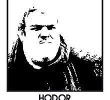 Hodor Inspired Artwork 'Game of Thrones' by ComedyQuotes