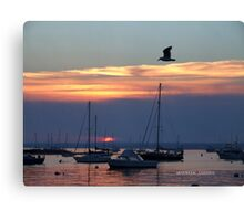 sunset in watch hill, rhode island 2 Canvas Print