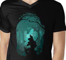 Zelda - Ocarina in the Woods Mens V-Neck T-Shirt