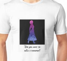 Princess Inspired Silhouette Polaroid Unisex T-Shirt