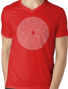SPIRAL MALA - 108 HARE KRISHNA HARE RAM MANTRA Mens V-Neck T-Shirt