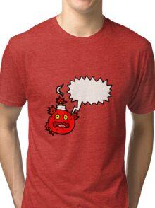 stress bomb cartoon  Tri-blend T-Shirt