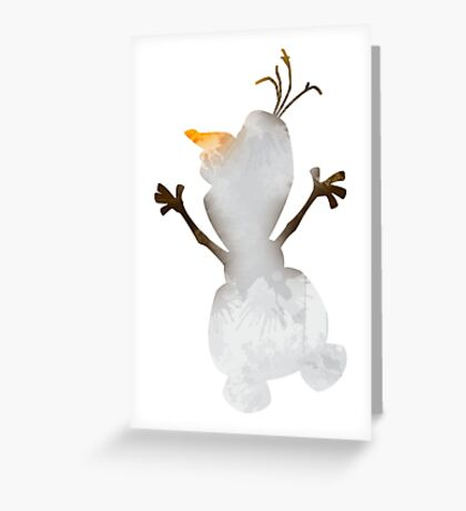 Snowman Inspired Silhouette Greeting Card
