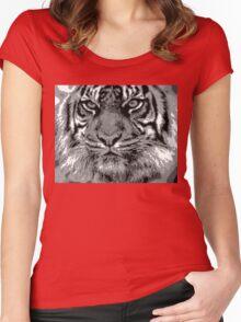 Tiger Pixel Art Women's Fitted Scoop T-Shirt