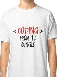 Coding from the jungle Classic T-Shirt