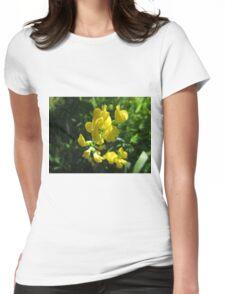 Lemon Yellow Hue Womens Fitted T-Shirt
