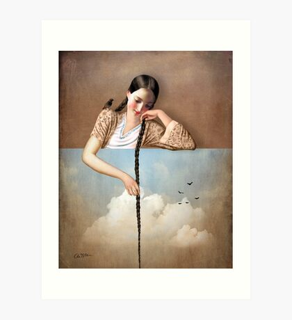 Touch The Sky (Rapunzel) Art Print