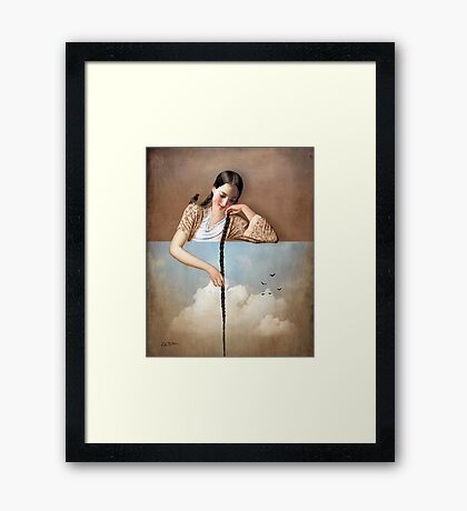Touch The Sky (Rapunzel) Framed Print