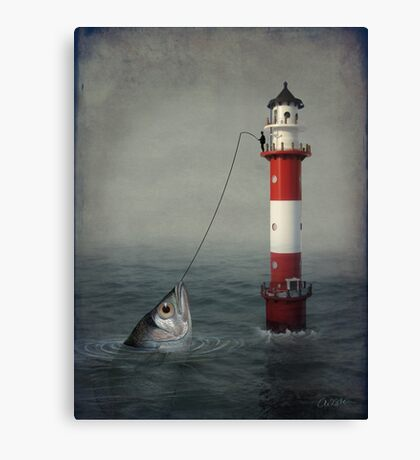 The Big Catch Canvas Print
