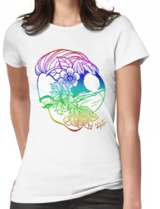 Floral Fem Crystal Womens Fitted T-Shirt