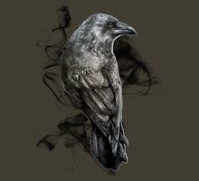 crow gothic bird raven realism drawing sketch tattoo Unisex T-Shirt