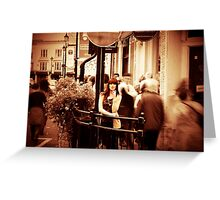 A day out in Greenwich - the day passes by Greeting Card
