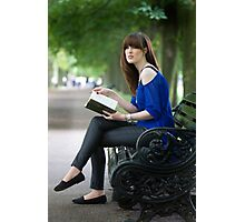 A day out in Greenwich - the park bench Photographic Print