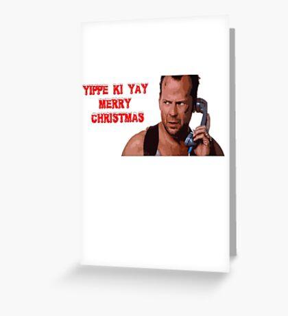 die hard merry christmas Greeting Card