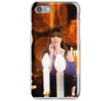 through the candles iPhone Case/Skin