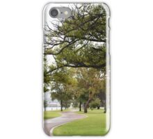 Perth Riverside Drive during the winter months iPhone Case/Skin