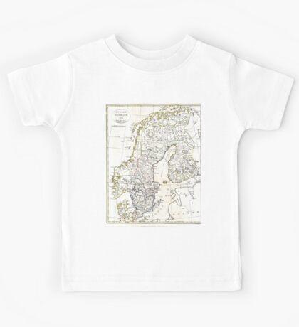 Map of Scandinavia - 1799 Kids Tee
