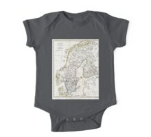 Map of Scandinavia - 1799 One Piece - Short Sleeve