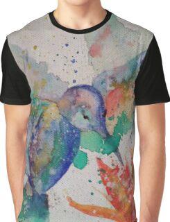 aquarelle  bird Graphic T-Shirt