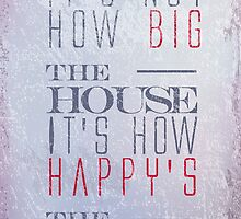 Big home quote shebby chic style decoration by vinainna