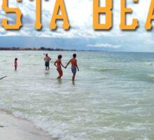 Siesta Beach Scene Sticker