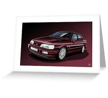 Ford Sierra Cosworth Sapphire 4x4 Poster Illustration Greeting Card