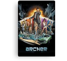 archer and girls Canvas Print