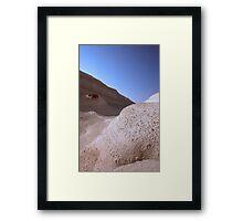 White Beach Framed Print