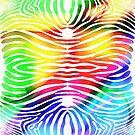 Zebra Skin Colorful Pattern by Edward Fielding