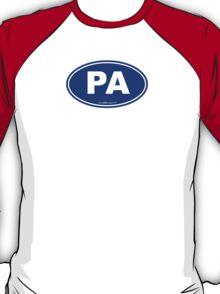 Pennsylvania PA Euro Oval BLUE T-Shirt