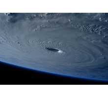 Hurricane from Space Photographic Print