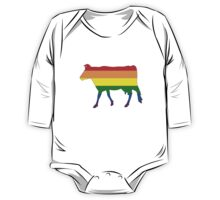 Rainbow Cow One Piece - Long Sleeve