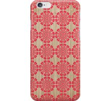 Red ornaments flowers with hearts iPhone Case/Skin