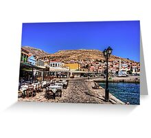 Crazy Paving and Tablecloths Greeting Card