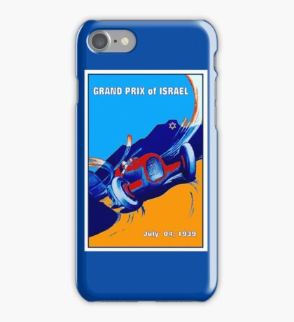 ISRAEL GRAND PRIX; Vintage Auto Racing Print iPhone Case/Skin