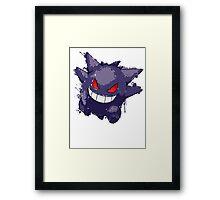Gengar Splatter Framed Print