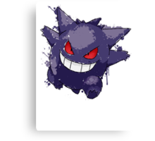 Gengar Splatter Canvas Print