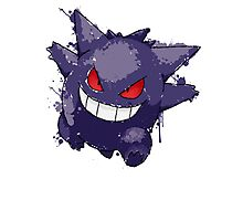 Gengar Splatter Photographic Print