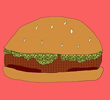 Burger Collage With Leaf Detail by duckpie